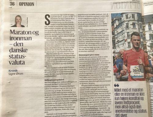 Signe Ørom i Berlingske om ekstremsport i Danmark set med kulturelle briller